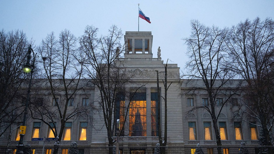 Ort der Übergabe? Die russische Botschaft in Berlin.