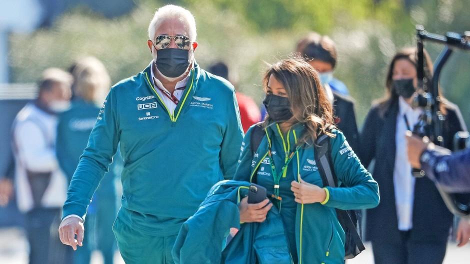 Nach Gutsherrenart: Lawrence Stroll vor zwei Wochen beim Rennen in Imola