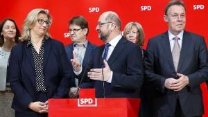 Schulz in der Zwickmühle