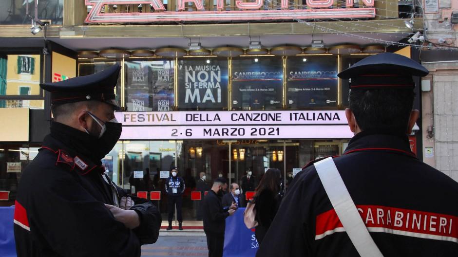 Wie gewohnt im Ariston Theater, aber ohne Zuschauer: Am Dienstag startet das Schlagerfestival von Sanremo.