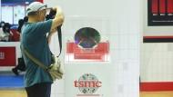 Im Fokus: Chips des Herstellers TSMC, hier auf einer Messe in China