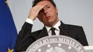Renzi soll Rücktritt verschieben