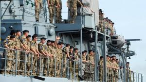 Flagge zeigen im südchinesischen Meer