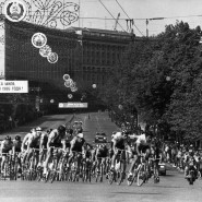"Die ""Friedensfahrt"" kommt in Kiew an, Mai 1986."