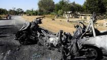 Ein zerstörtes Fahrzeug der Terrorgruppe Boko Haram. Vor allem im Norden Nigerias liefern sich Armee und Extremisten einen tödlichen Kampf.