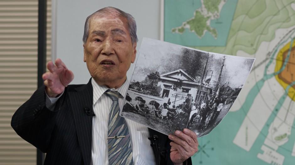 Sunao Tsuboi: Trotz des Schreckens hatte er seinen Humor behalten.