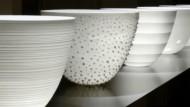 Zerbrechliche Kunstwerke aus Keramik