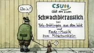 Eine Karikatur von Greser und Lenz.