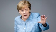Angela Merkel (CDU) Mitte Mai bei der Haushaltsdebatte im Bundestag