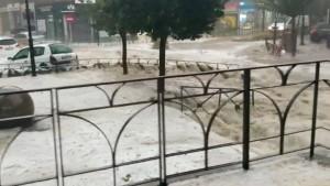 Wetter-Chaos bringt Madrid zum Stillstand