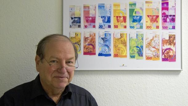 Reinhold Gerstetter hat die neuen Euro-Noten gestaltet