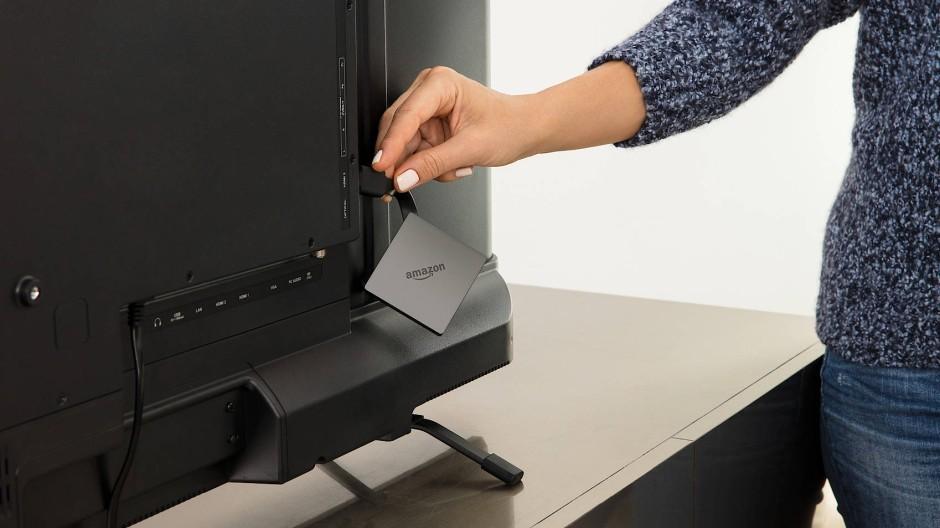 Konkurrenz für Apple TV: Amazons Fire TV kann direkt an den Fernseher angeschlossen werden.