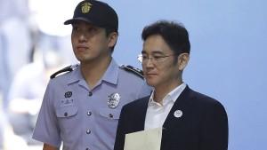 Samsung-Erbe zu fünf Jahren Haft verurteilt