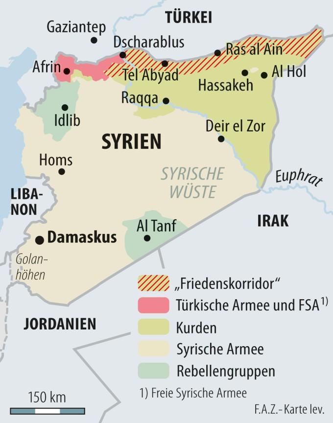 Syrien Karte Aktuell 2018.Analyse Wie Die Turkei Sich Auf Nordsyrien Angriff Vorbereitet