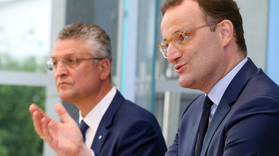 Bundesgesundheitsminister Jens Spahn und Lothar Wieler, Präsident des Robert-Koch-Instituts, im September in Berlin
