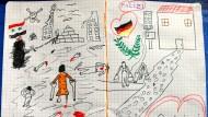 Syrisches Kind malt bewegendes Bild für Bundespolizei