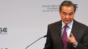 Wang: Amerika sollte Koexistenz mit China akzeptieren
