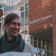 Im Redaktionsgebäude der Frankfurter Allgemeinen Zeitung realisiert unser Fellow schon bald datenjournalistische Projekte.