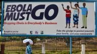 Bei Ebola sind wir noch nicht über den Berg