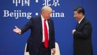 Donald Trump und Xi Jinping bei einem Treffen Ende 2017 in Peking