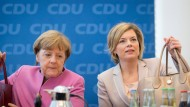 Wahlkampfmodus: Merkel und Klöckner am Montag im Berliner Konrad-Adenauer-Haus