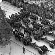 Erfolg durch Gewalt: Deutsche Truppen beim Einmarsch in Warschau am 5. Oktober 1939