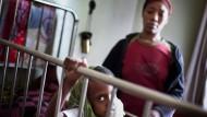 Kleiner Patient: Auch der sechs Jahre alte Abiyu wird in der Kinderkrebsstation des Black Lion Hospitals behandelt.