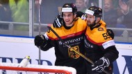 Im Sturm der Deutschen steht mit Frederik Tiffels ein Neuling, dessen Name bis vor kurzem selbst Insidern der Eishockeyszene kaum vertraut war.