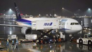 Ein Charterflugzeug wird auf dem Flughafen Tokio-Haneda für einen Flug nach Wuhan vorbereitet, um japanische Staatsangehörige aus der chinesischen Stadt zu evakuieren.