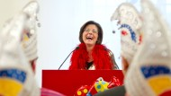 Ministerpräsidentin Malu Dreyer empfängt Narren in der Staatskanzlei in Mainz (im Februar 2015)