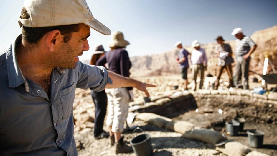 Die Ausgrabungsstätte im Timna-Tal im Süden Israels. In der Antike wurde hier Kupfer hergestellt.
