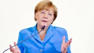 Kanzlerin Merkel spricht vor dem EU-Parlament