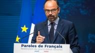 Frankreichs Premierminister Edouard Philippe am Montag in Paris