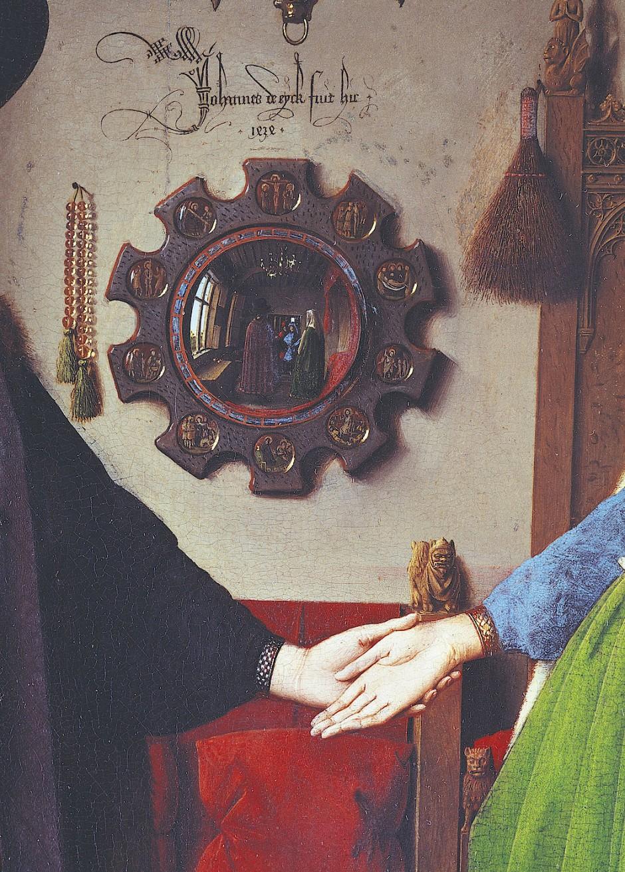 """""""Jan van Eyck war hier"""", so steht es über dem Spiegel auf dem Gemälde """"Arnolfini-Hochzeit"""".  Doch was malte er da eigentlich?"""