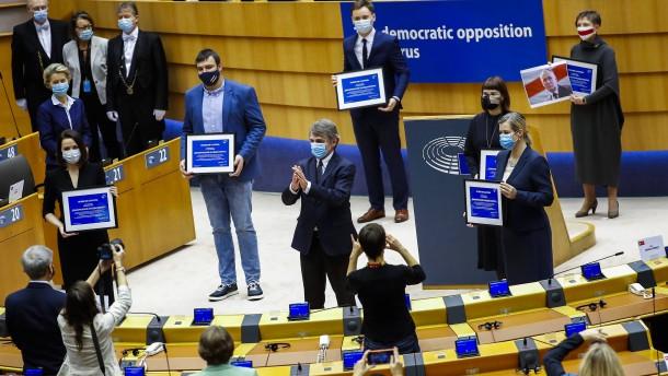 Belarussische Opposition mit Sacharow-Preis ausgezeichnet
