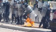 Straßenschlachten in Honduras