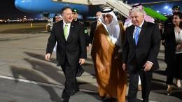 """Pompeo nennt Angriffe auf Saudi-Arabien """"Kriegshandlung"""""""