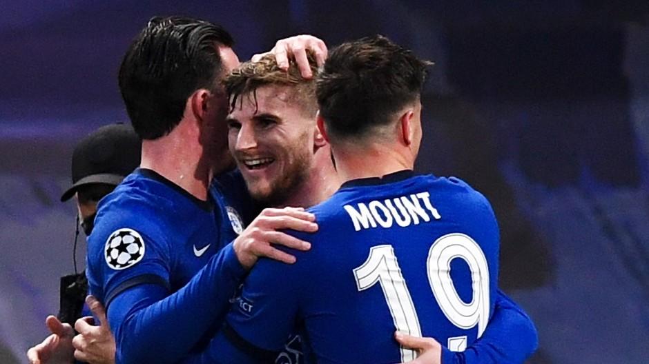 Glücklicher Timo Werner (Mitte): Der deutsche Nationalspieler erzielte für den FC Chelsea das 1:0.