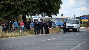 Polizisten im Hambacher Forst mit Steinen beworfen