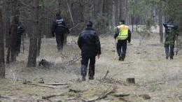 Polizei sucht Waldstück nahe Storkow ab