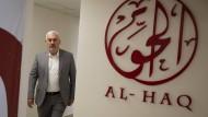 Shawan Jabarin, Direktor der Organisation Al-Haq, die Rechtsverletzungen sowohl von Seiten Israels als auch der Palästinensischen Autonomiebehörde nachgeht, am Samstag in Ramallah