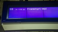 Die S-Bahn hat Verspätung