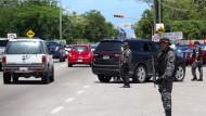 Sicherheitskräfte in Puerto Vallarta: Hier wurden sechs Menschen entführt, darunter der Sohn des mächtigen Drogenbosses El Chapo.