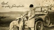 """Als Opel noch den Opels gehörte: Der """"große Sechszylinder"""" von 1927 als Werbemotiv. Hubraum: 3160 Kubikzentimeter"""