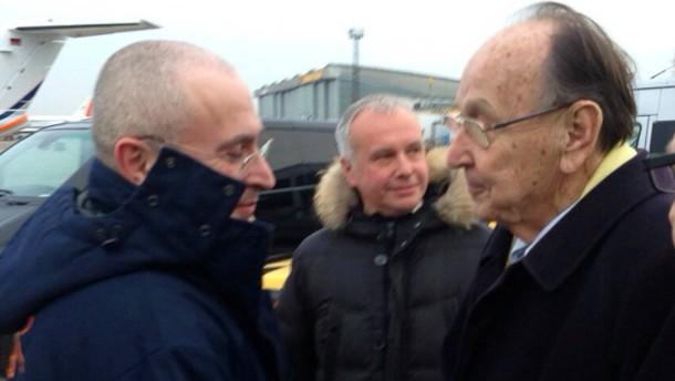 Genscher empfängt Chodorkowskij in Berlin