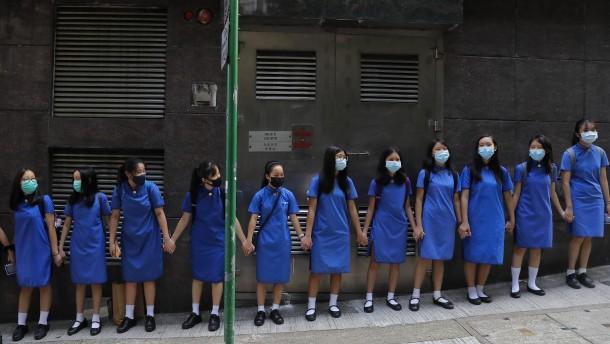 Im Hongkonger Straßenkampf