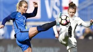 Deutsche Fußballfrauen weiter sieglos