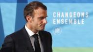 Heftig kritisiert: Der französische Ministerpräsident Emmanuel Macron