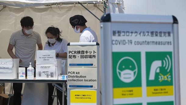Corona-Zahl in Tokio steigt auf Sechs-Monats-Hoch