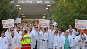 Ärzte streiken an hessischen Kliniken